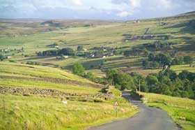 view of arkengarthdale, yorkshire dales